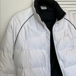 Worn once - white w/blk trim black lined Size lg
